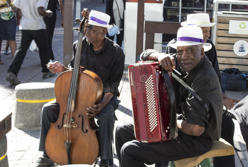 Street musician in Cape Town. stock photos