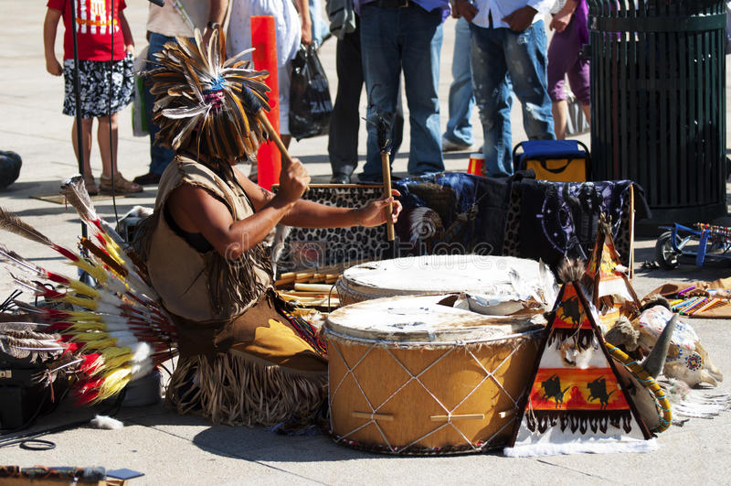 Street musician from Peru in Oslo stock photo