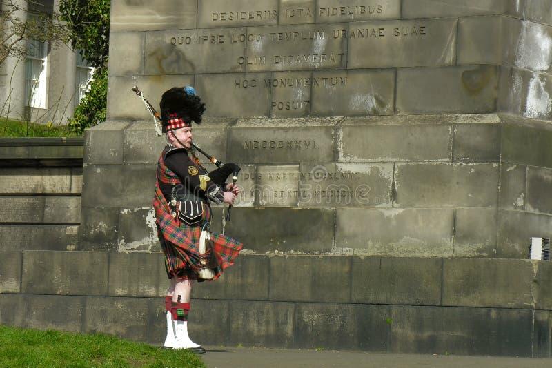 Download Street Musician - Senior Bagpiper In Edinburgh Editorial Stock Image - Image: 20317669