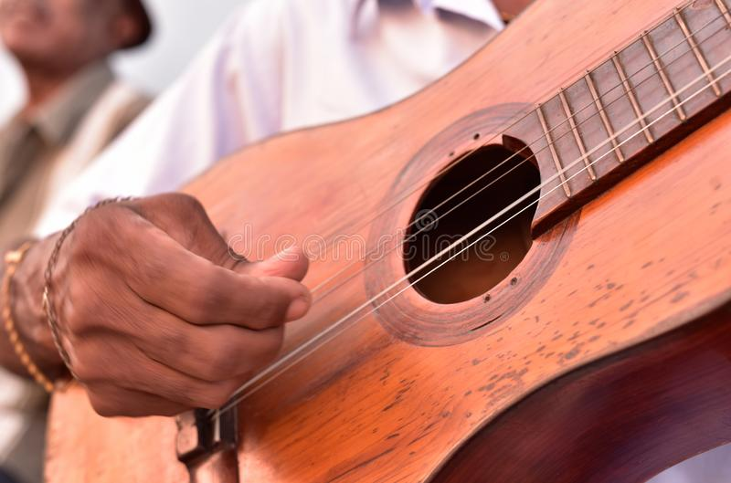 Street musician in Trinidad stock images