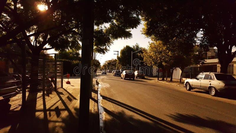 Street of my house. Civik, civil, croosroad, cars stock photos