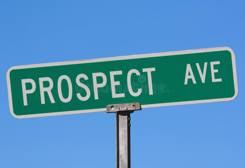 Download Street Name Sign Prospect Ave Stock Image - Image: 21620967