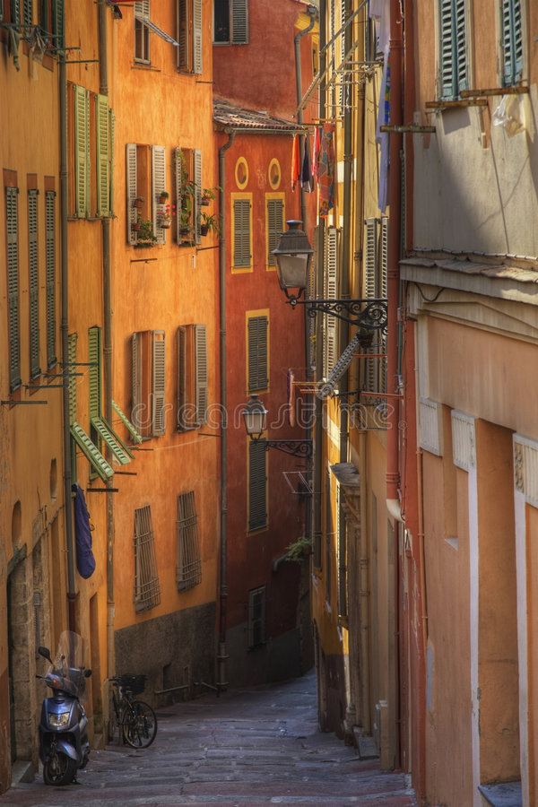Street in Nice royalty free stock photography