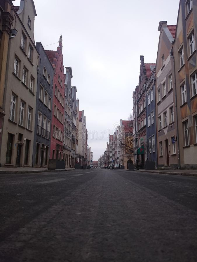 Street with nice houses royalty free stock images