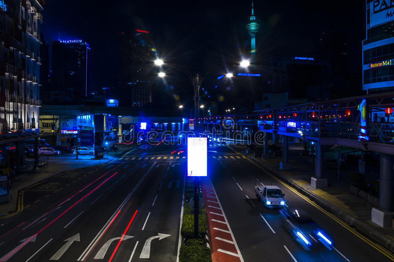 Download Street at Night editorial photography. Image of city - 91970982