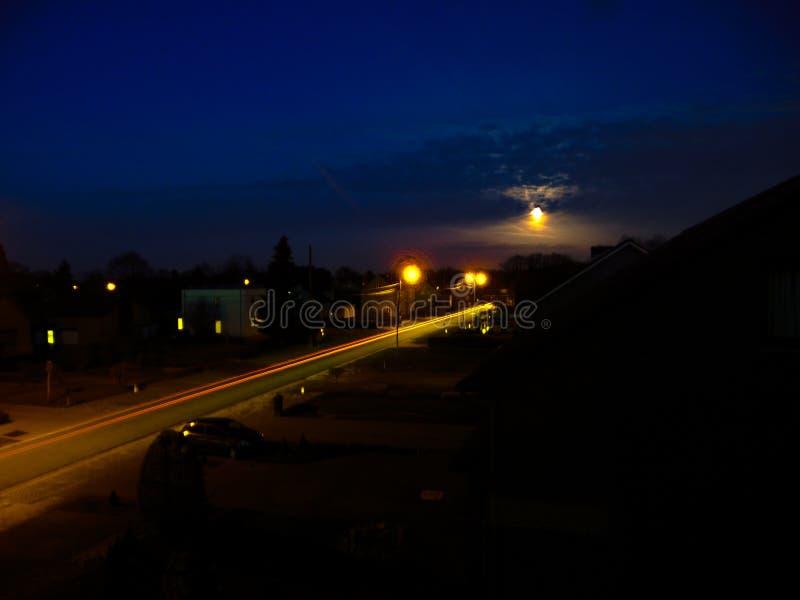Street at night stock photo