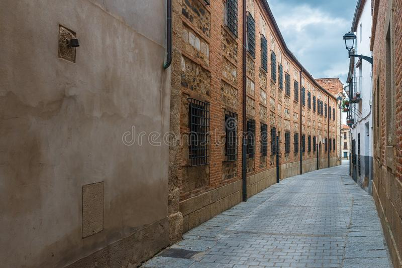 Street of the nuns in Coria, Caceres, Extremadura, Spain.  royalty free stock images