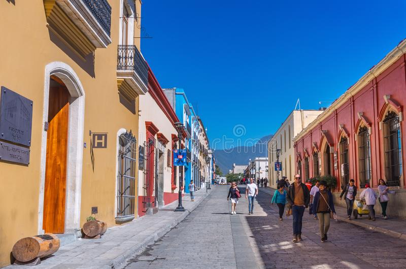 Street in Oaxaca, Mexico royalty free stock images