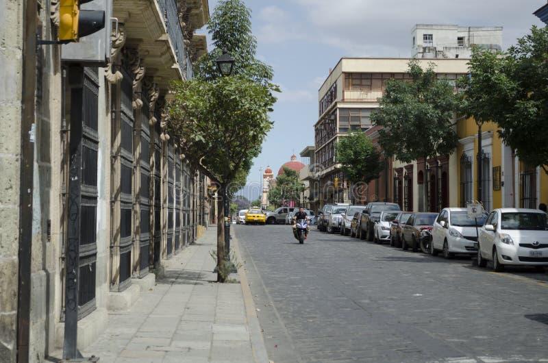 Street. Oaxaca, Mexico stock photo