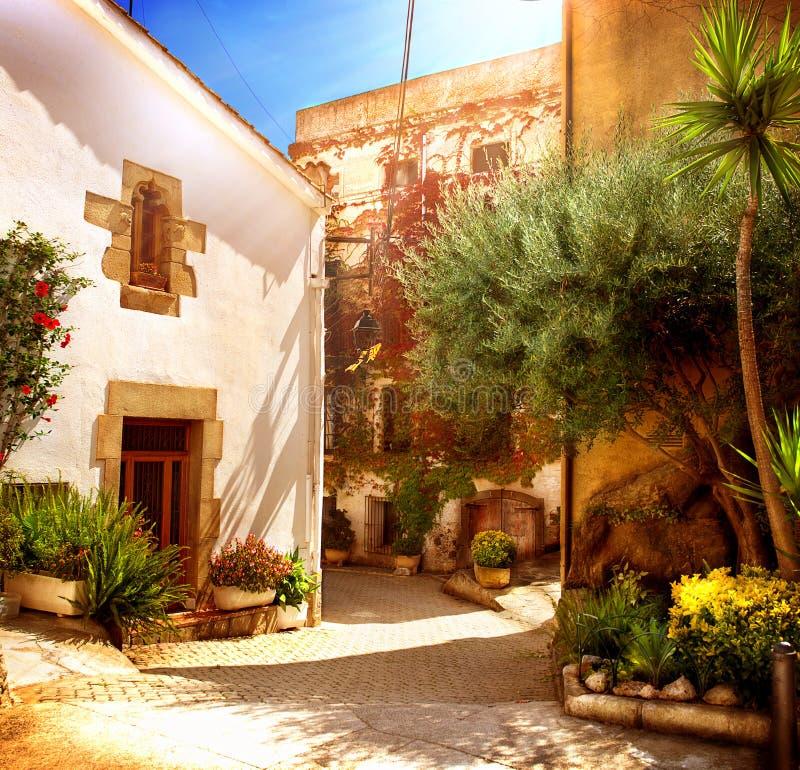 Free Street Of Old Mediterranean Town Stock Photo - 35326080