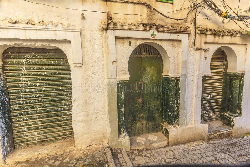Old Algiers. A street in the old Algiers, the capital of Algeria royalty free stock photo