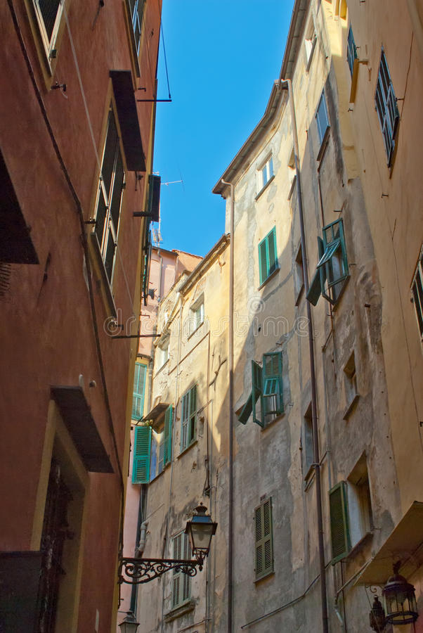 Download Street with old buildings stock image. Image of alley - 26516545