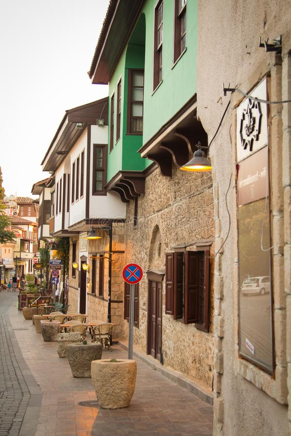 A street in the old city of Antalya. Turkey. stock images
