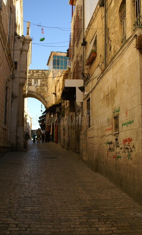A street in the old city jerusalem royalty free stock photography