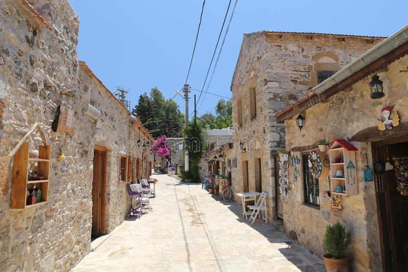 Street in Old Datca, Mugla, Turkey stock image