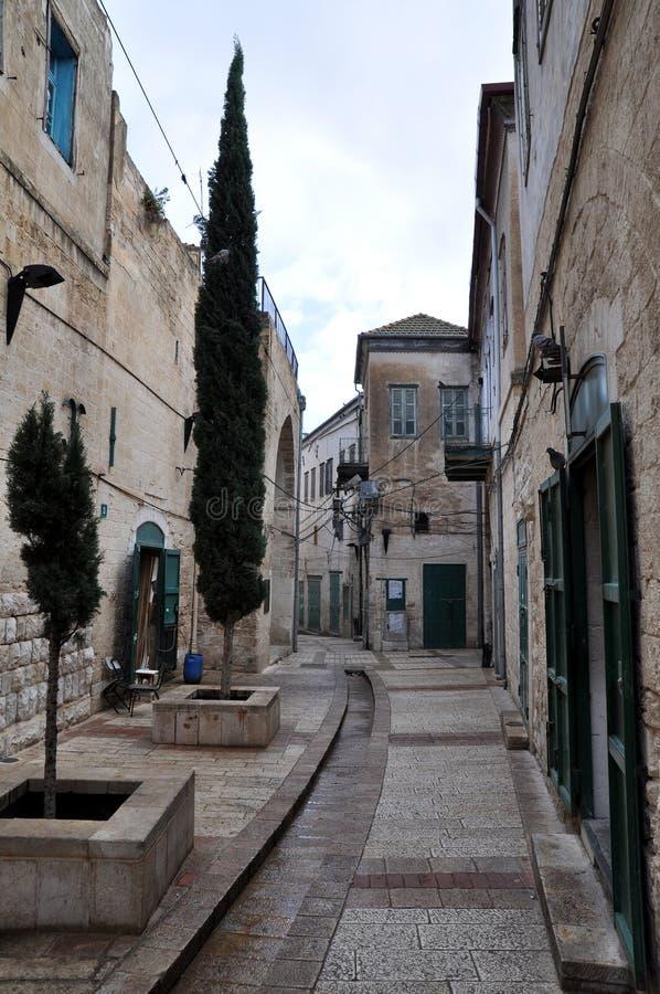 Street in old Nazareth (Israel) stock image