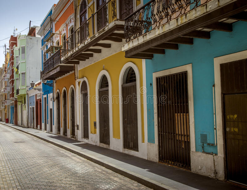 Street of old San Juan, Puerto Rico royalty free stock image