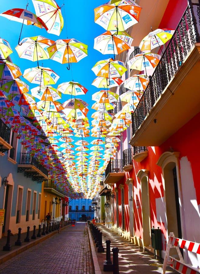 Street in Old San Juan, Puerto Rico. USA royalty free stock photography