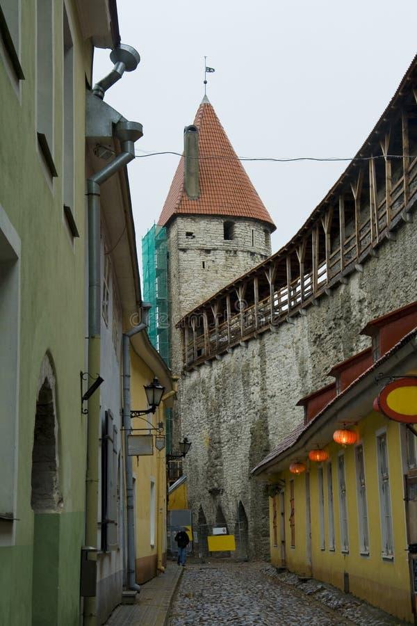 Street of old Tallinn royalty free stock photo