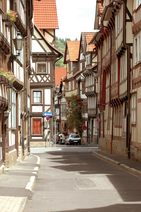 Street of old Town. stock photo