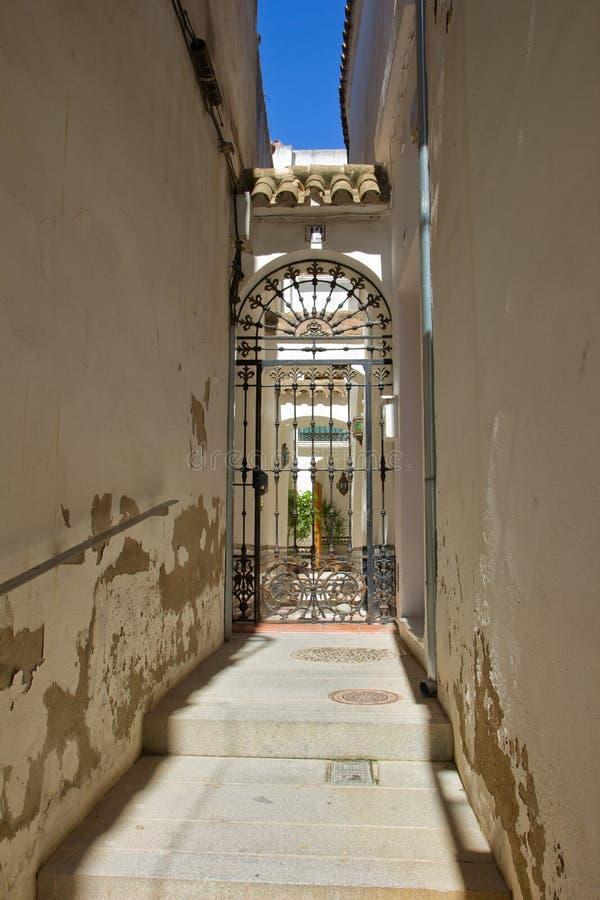 Street in old town, Cordoba, Spain royalty free stock photos