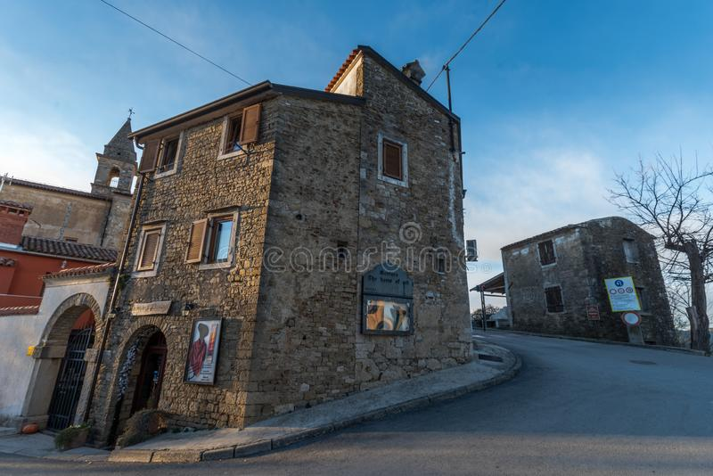 Old Town Motovun, Istria, Croatia. Street of Old Town Motovun, Istria, Croatia, photographed with my Nikon D750 at Winter afternoon royalty free stock photo