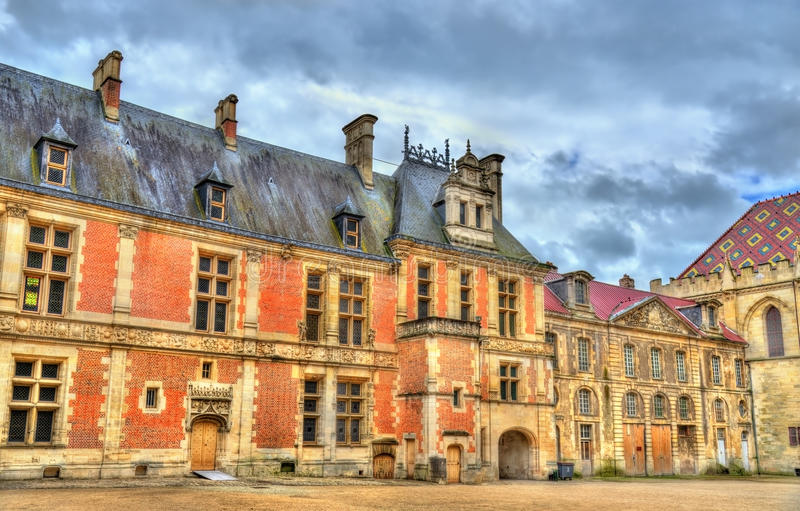 Street in the old town of Sens - France. Yonne stock photography