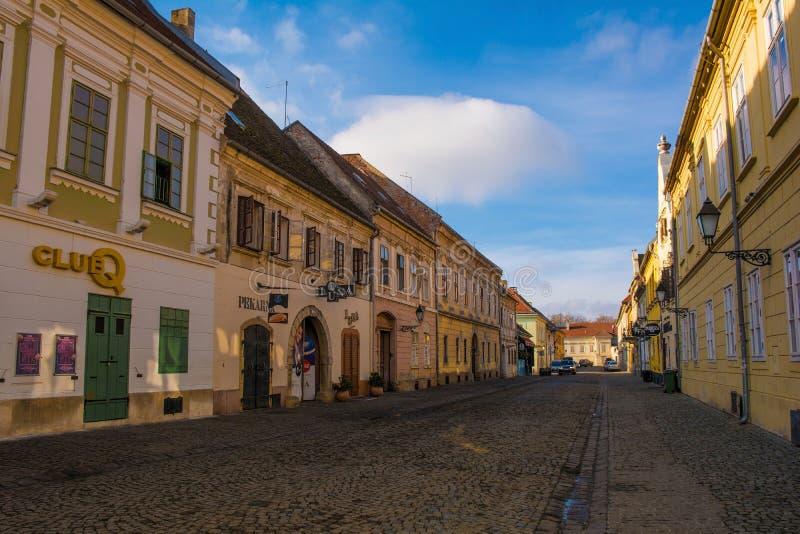 Street in Osijek in Eastern Croatia royalty free stock image