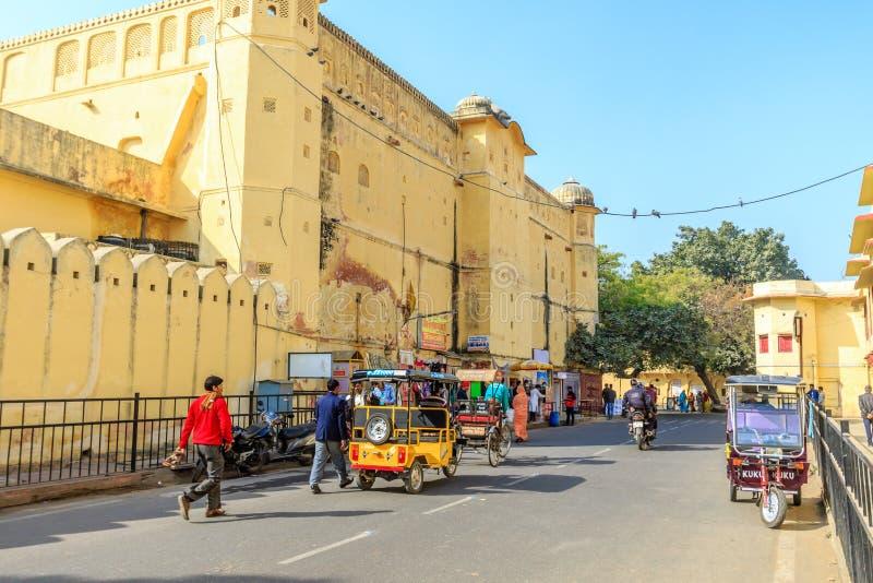Street outside Jantar Mantar stock photo