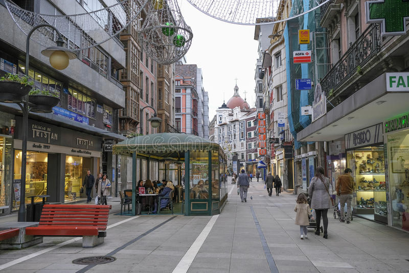 Street in Oviedo, Spain. royalty free stock photo