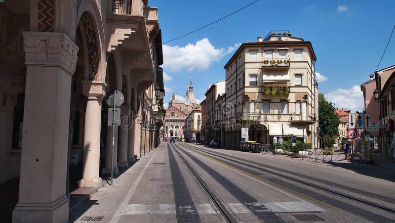 The street of Padua in the hot summer royalty free stock photos