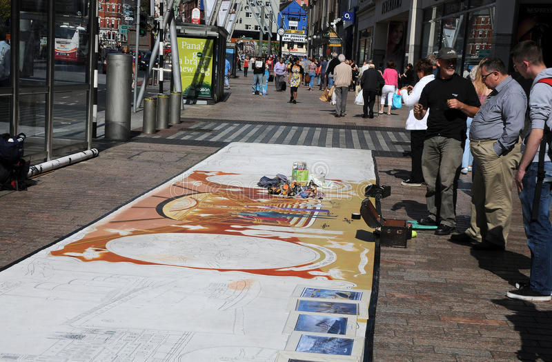 Download Street painter editorial photography. Illustration of tourists - 27550497