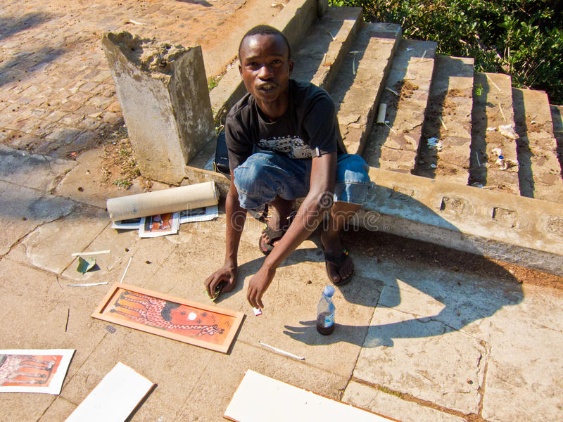 Download Street Painter In Mozambique Editorial Photo - Image: 21303976