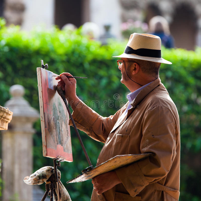Download Street painter editorial stock image. Image of detail - 34661299