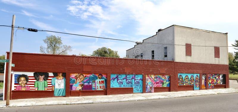 Civil Rights Street Painting, Memphis, TN stock image