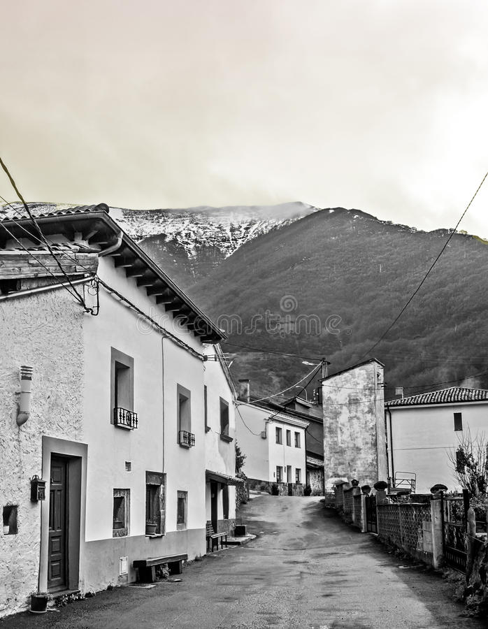 Street of Pajares stock photo