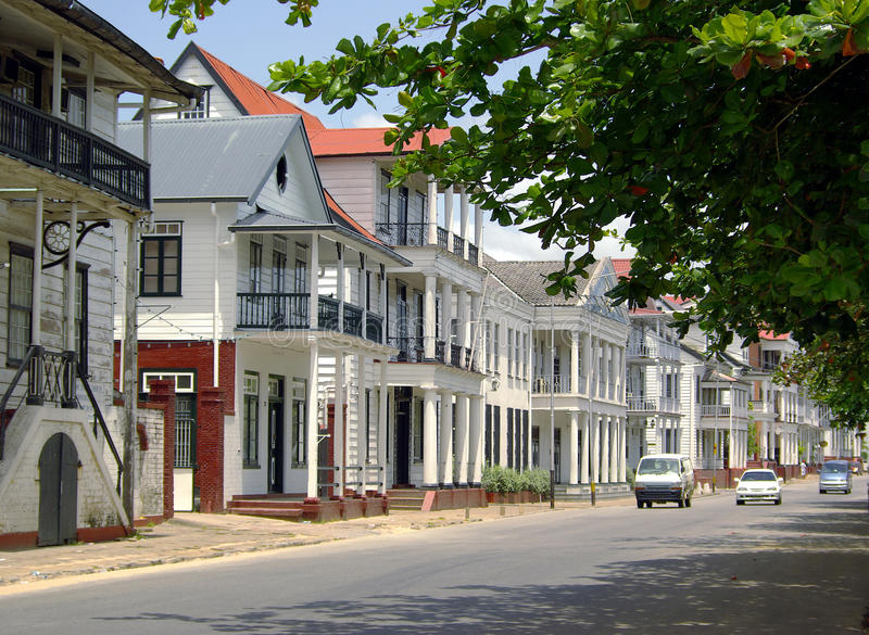 Street of Paramaribo royalty free stock images