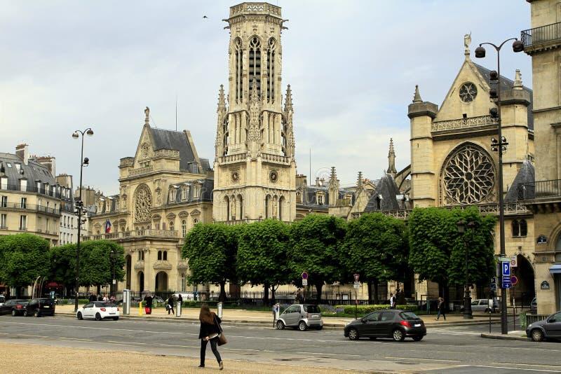 Street of Paris stock photo