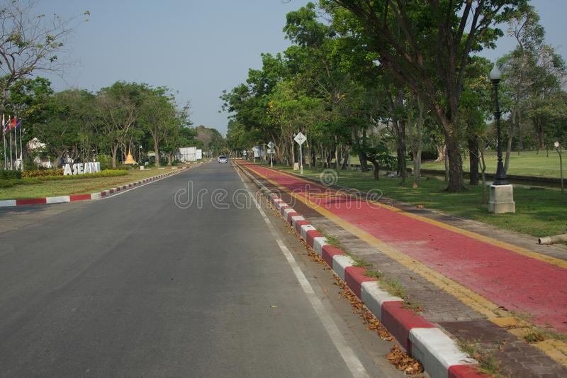 The street in the park royalty free stock image