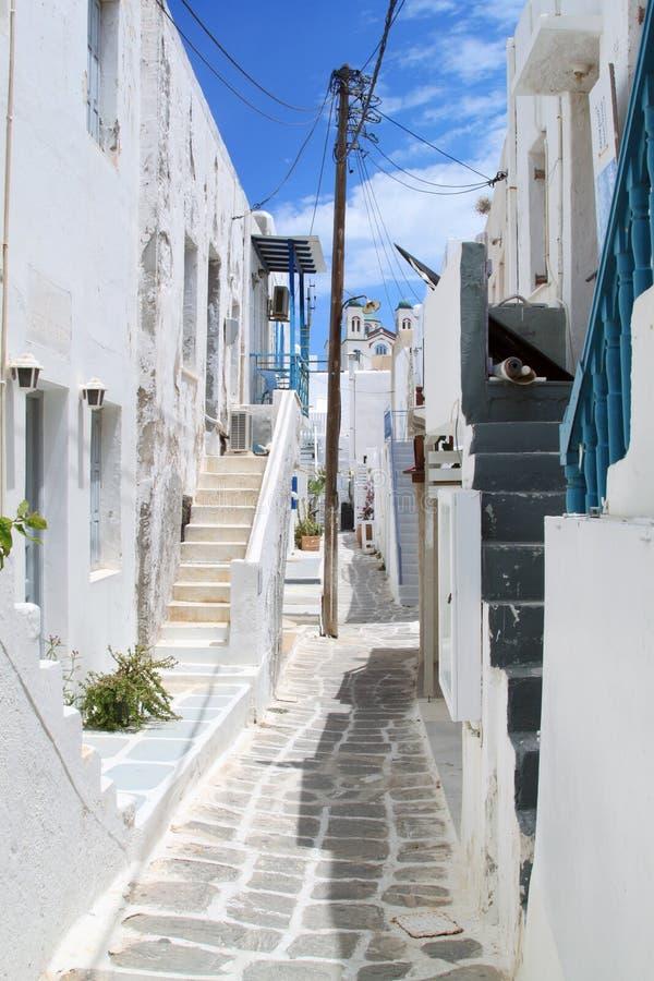 Street of Paros, Greece stock photography