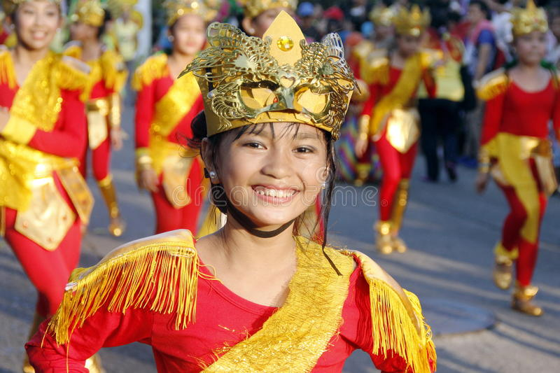 Street Party. Cavite, Philippines: Street dancing competition in Paru-paro Festival in Dasmarinas Cavite, Philippines on November 26, 2015 stock photography