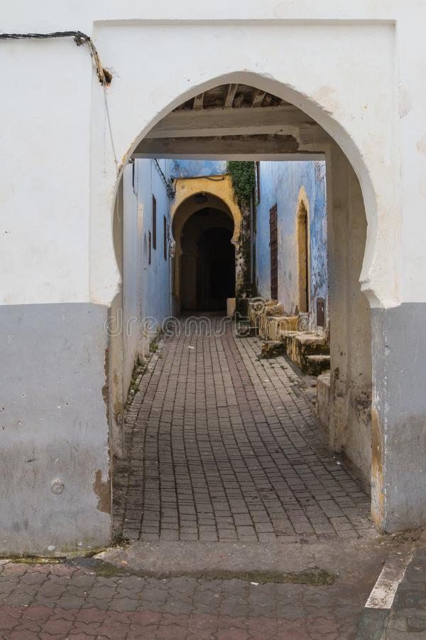 Street with an underpass, Rabat - Sale, Morocco royalty free stock photo