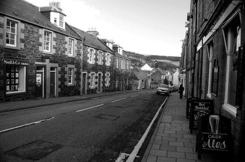 Street in Peebles royalty free stock images