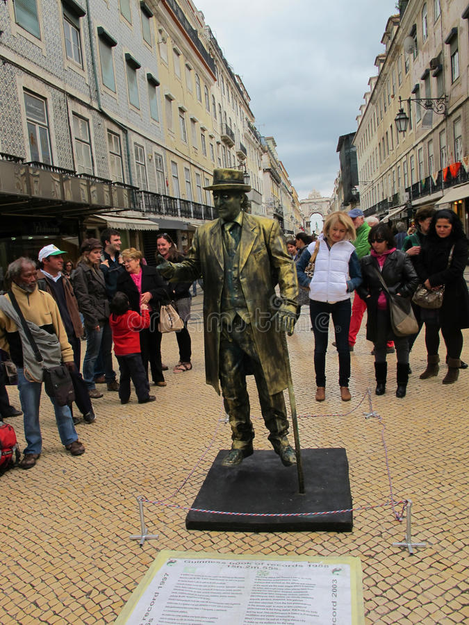 Download Street Performer editorial stock image. Image of lisbon - 24580349