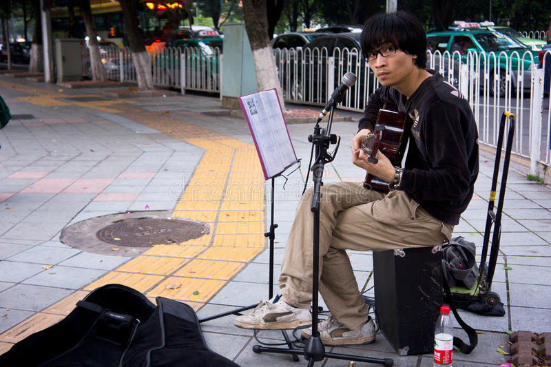Street Performer Editorial Photography