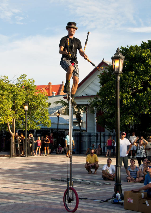 Street performer stock photography
