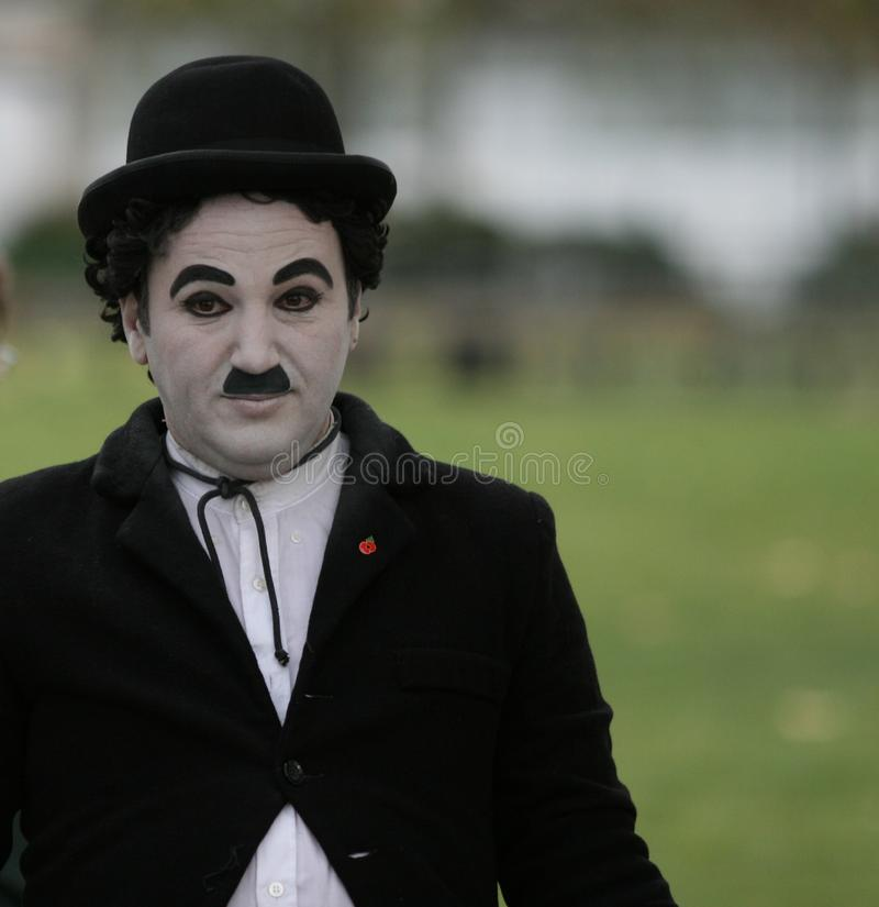 Free Street Performer / Imitation / Charlie Chaplin Stock Photography - 17110292