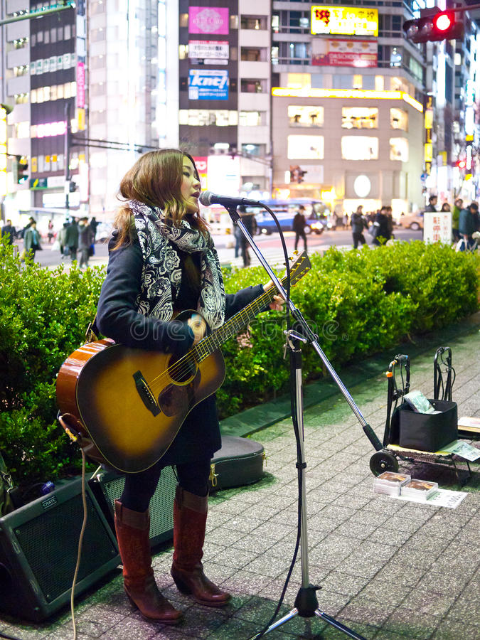 Street Performer In Tokyo Editorial Photo