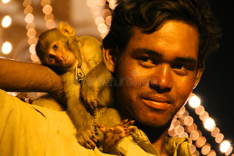 Download Street Performing Juggler With His Monkey Editorial Photography - Image: 20964812
