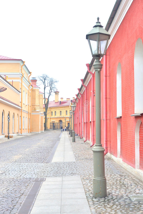 Street in Peter and Paul Fortress. Street in Peter and Paul Fortress in St.Petersburg, Russia stock image